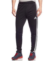 Черно-белые спортивные штаны в вертикальную полоску