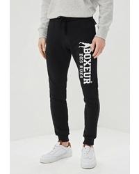 Мужские черно-белые спортивные штаны с принтом от Boxeur Des Rues