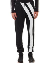 Черно-белые спортивные штаны