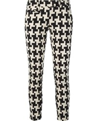"""Черно-белые узкие брюки с узором """"гусиные лапки"""""""