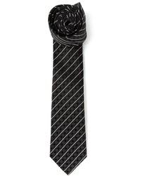 Мужской черно-белый галстук в горизонтальную полоску от Dolce & Gabbana