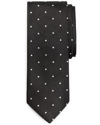 Черно-белый галстук в горошек