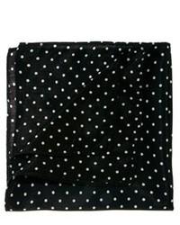 Черно-белый нагрудный платок в горошек от Asos
