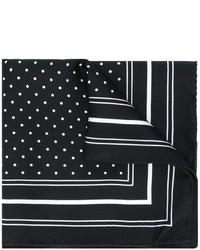 Черно-белый нагрудный платок в горошек от Dolce & Gabbana