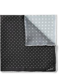 Черно-белый нагрудный платок в горошек от Lanvin