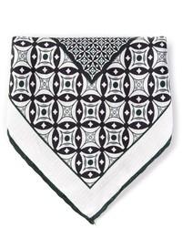 Черно-белый нагрудный платок с принтом от Canali