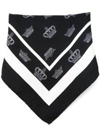 Черно-белый нагрудный платок с принтом от Dolce & Gabbana