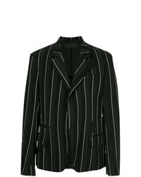 Черно-белый пиджак в вертикальную полоску