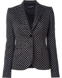 Черно-белый пиджак в горошек