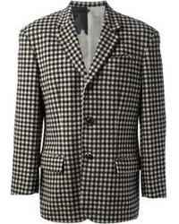 """Черно-белый пиджак с узором """"гусиные лапки"""""""