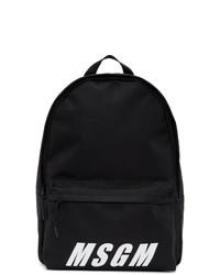 Мужской черно-белый рюкзак с принтом от MSGM