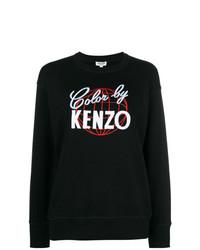 Женский черно-белый свитшот с принтом от Kenzo