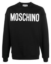 Мужской черно-белый свитшот с принтом от Moschino
