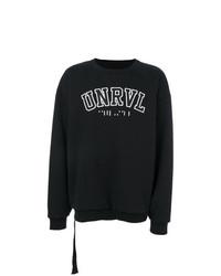 Мужской черно-белый свитшот с принтом от Unravel Project