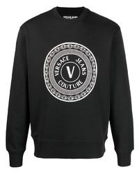 Мужской черно-белый свитшот с принтом от VERSACE JEANS COUTURE