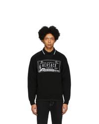 Мужской черно-белый свитшот с принтом от Versace