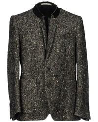 Черно-белый твидовый пиджак