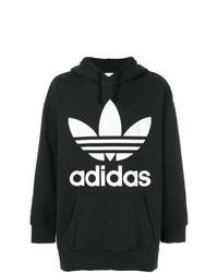Мужской черно-белый худи с принтом от adidas