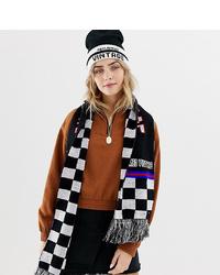 Женский черно-белый шарф в клетку от Reclaimed Vintage