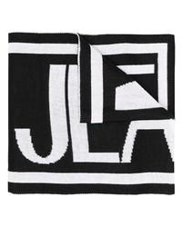 Мужской черно-белый шарф с принтом от VERSACE JEANS COUTURE