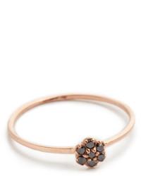 Женское черно-золотое кольцо от Black Diamond