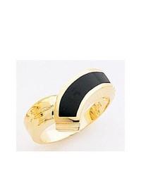 """Женское черно-золотое кольцо от """"Sarraf.com"""""""