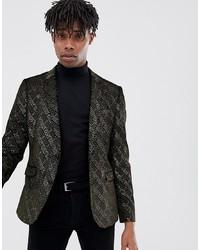 Черно-золотой пиджак