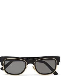 Черно-золотые солнцезащитные очки