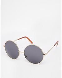 Женские черно-золотые солнцезащитные очки от Asos