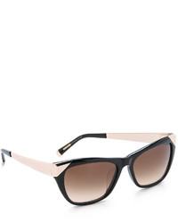 Женские черно-золотые солнцезащитные очки от Cat Eye