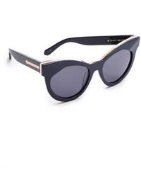 Женские черно-золотые солнцезащитные очки от Karen Walker