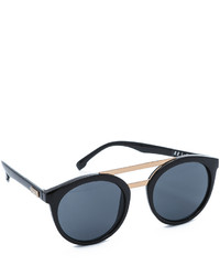 Женские черно-золотые солнцезащитные очки от Le Specs