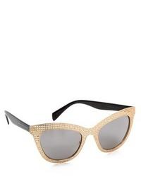 Женские черно-золотые солнцезащитные очки от Marc by Marc Jacobs
