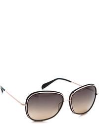 Женские черно-золотые солнцезащитные очки от Oliver Peoples