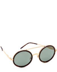 Женские черно-золотые солнцезащитные очки от Wildfox Couture