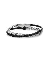 Черно-серебряный браслет