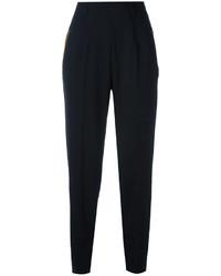 Женские черные бархатные брюки-галифе от Christopher Kane