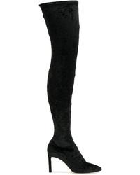 Женские черные ботфорты от Jimmy Choo
