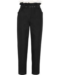 Черные брюки-галифе с рюшами