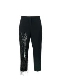 Черные брюки-галифе с украшением
