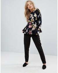 Женские черные брюки-галифе от Vila