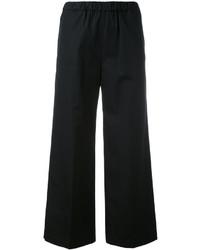 Черные брюки-клеш от Aspesi