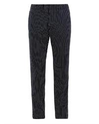 Черные брюки чинос в вертикальную полоску