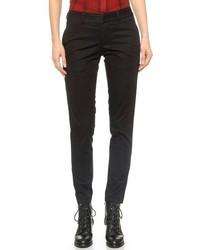 Женские черные брюки чинос