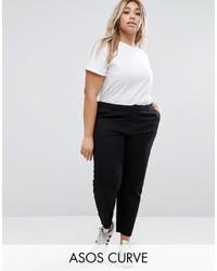 Женские черные брюки чинос от Asos
