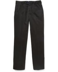 Черные брюки чинос от Incotex