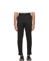 Черные брюки чинос от Issey Miyake Men
