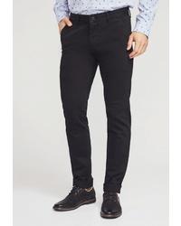 Черные брюки чинос от MOSSMORE