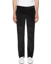 Черные вельветовые брюки чинос