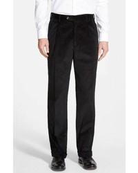 Черные вельветовые классические брюки